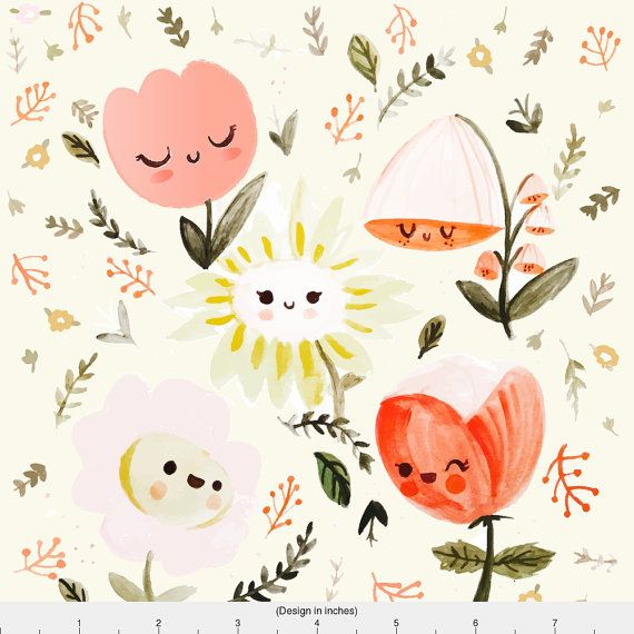 1 yard (or 1 fat quarter) of Dreamy Spring - Happy Flowers by designer babybubbleco. Printed on Organic Cotton Knit, Linen Cotton Canvas, Organic Cotton Sateen, Kona Cotton, Basic Cotton Ultra, Cotton Poplin, Minky, Fleece, or Satin fabric.  Available in yards and quarter yards (fat quarter). This fabric is digitally printed on demand as orders are placed. Unlike conventional textile manufacturing, very little waste of fabric, ink, water or electricity is used. We print using eco-friendly…