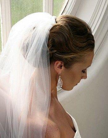 Свадебные прически с фатой на фото   Прически под фату