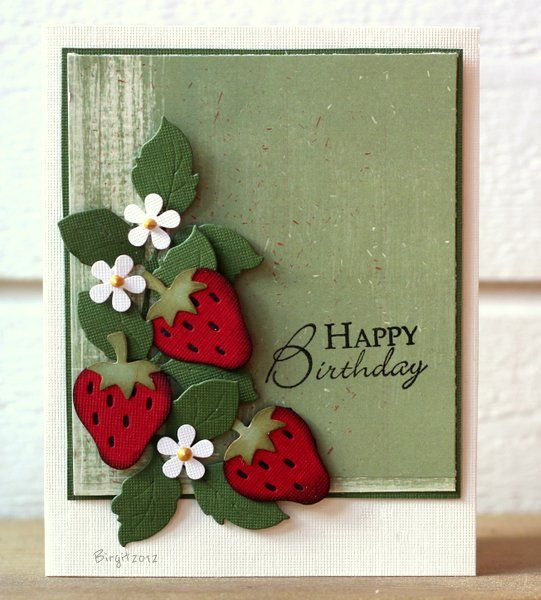 Strawberries on this card are delightful.  Judi Carpenter will replicate the look using all Stampin' Up! products (of course!).