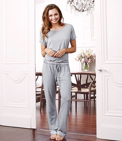 Bianca is a beautiful grey-marle modal fabric that is light and breezy in the hot summer weather. This refined set offers relaxation at its best while looking stylish. Bianca features satin additions to the waistband and hems, adding a hint of shine into your loungewear. The back panel is detailed with a graceful lace pattern that enhances this polished piece. You'll feel fashionable and comfortable in the beautiful Bianca set.