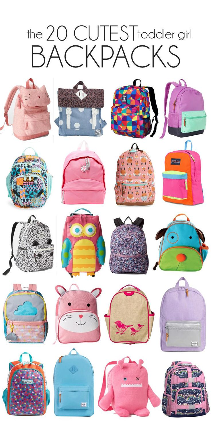 prepping for the first day of preschool :) 20 of the CUTEST toddler girl backpacks