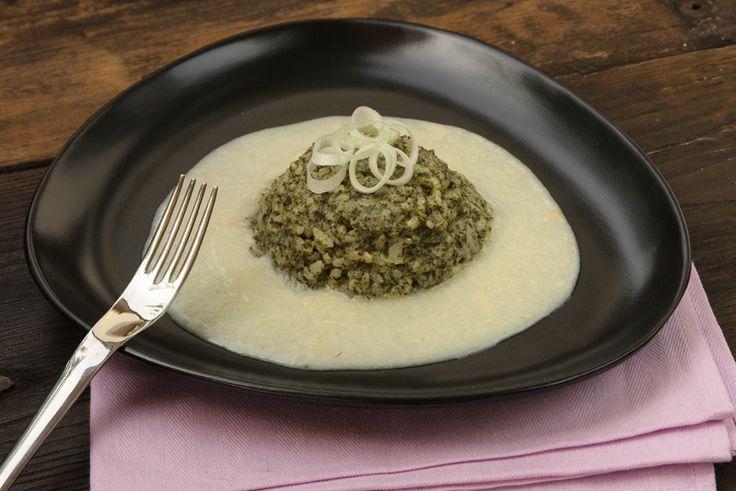 Risotto con ortiche su crema di asparagi bianchi    - ricette Solema Cereser - D - Repubblica.it