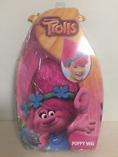 TROLLS 2016 POPPY Pink Hair Wig w/ Headband DREAMWORKS Movie.New