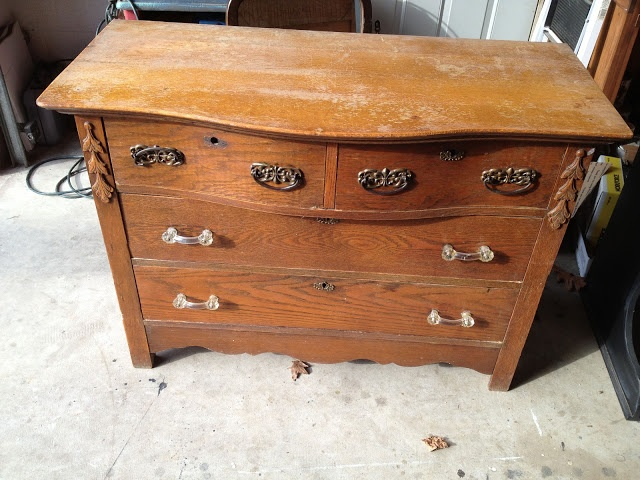Two Toned Oak Dresser