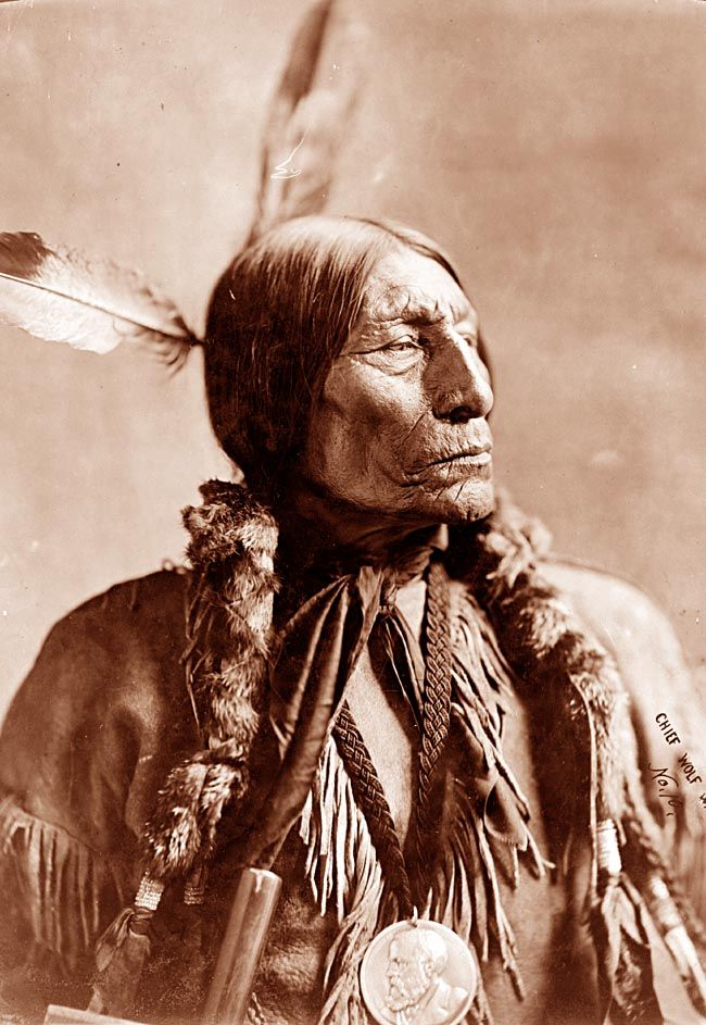 Cheyenne Indian Chief. The photo is by Wyman, and was taken in 1904
