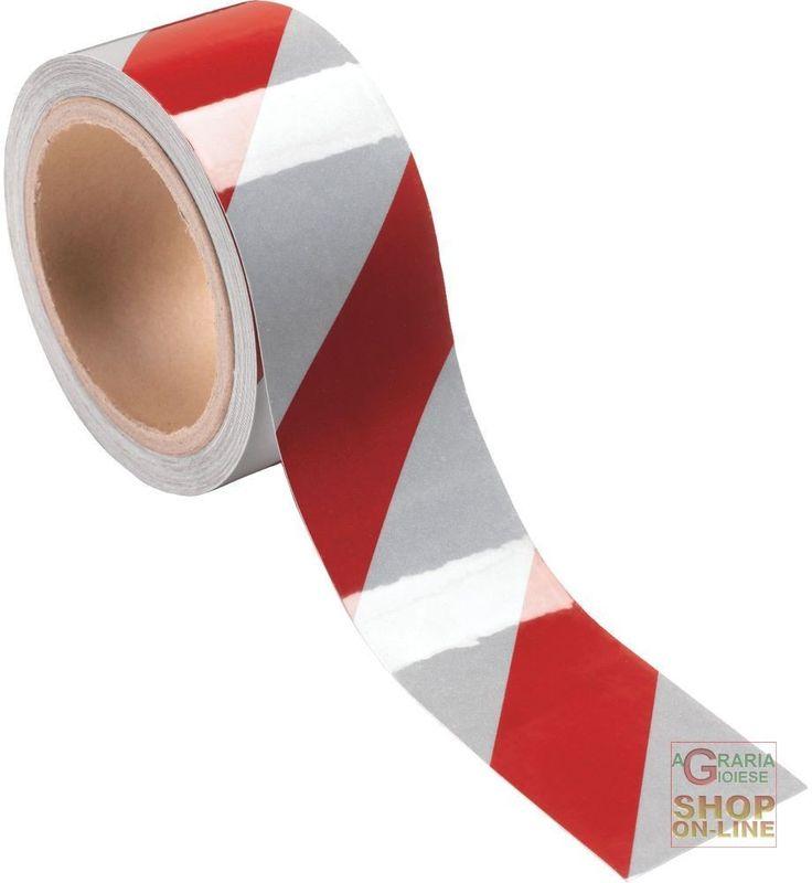 NASTRO ADESIVO RETRORIFLETTENTE DM 7209 LOSANGHE DIAGONALI  CONFEZIONE 10 MT  COLORE BIANCO ROSSO http://www.decariashop.it/home/12013-nastro-adesivo-retroriflettente-dm-7209-losanghe-diagonali-confezione-10-mt-colore-bianco-rosso.html
