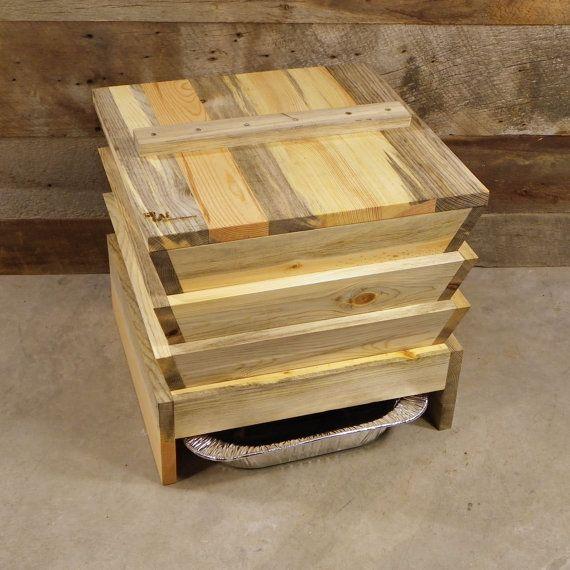 3 bin ver composteur (vermicompostière) beetle kill pin / prêt à assembler / eco gift, compost, upcycled