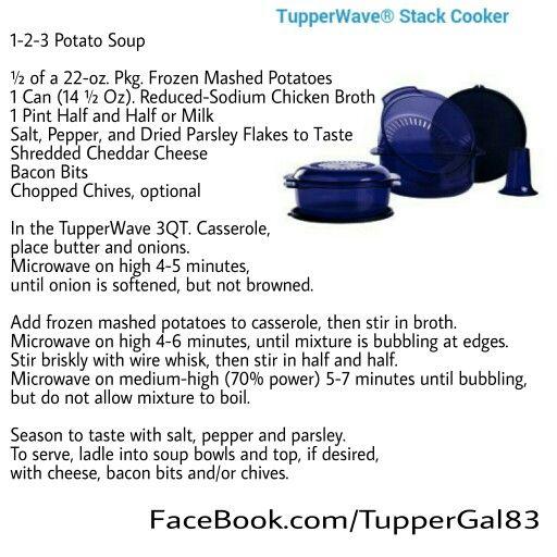 Tupperware Stack Cooker Recipes 1-2-3 Potato Soup