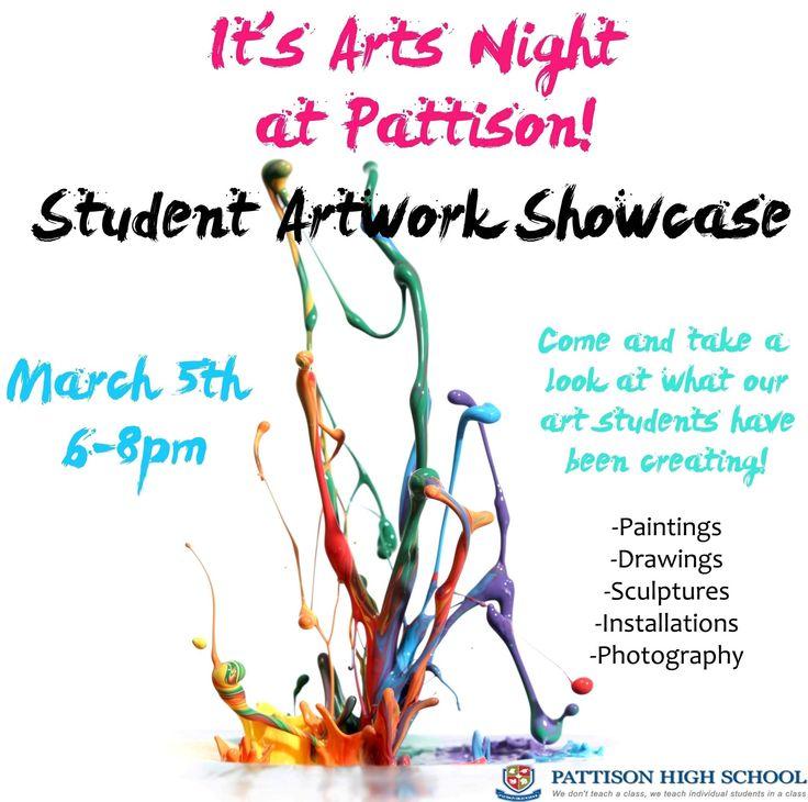 Arts Night at Pattison High School - Student Artwork Showcase