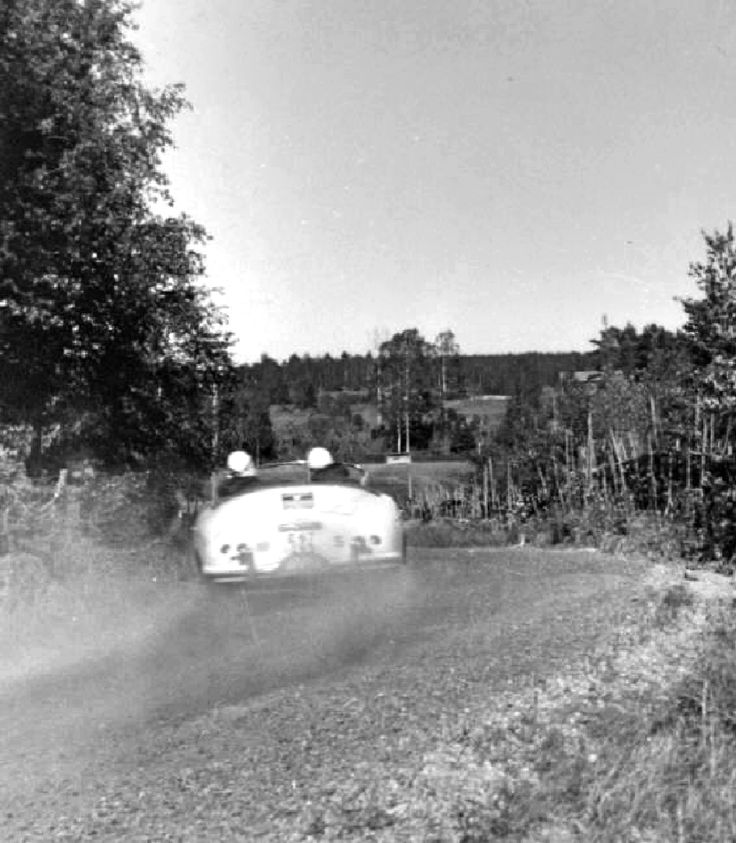 1957 Midnight Sun Rally: Alan Borgefors finished 9th in this Porsche 356A 1500 soft-top