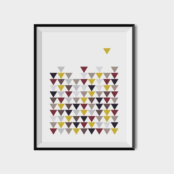 Scandinavian triangles prints Geometry Home decor by 2eggsProject