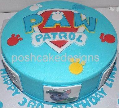 Paw Patrol Cake Poshcakedesigns Ercream With Fondant Accents
