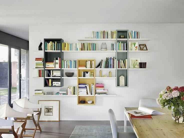 Bücherregal für die Wand Made in Italy exklusiv modern