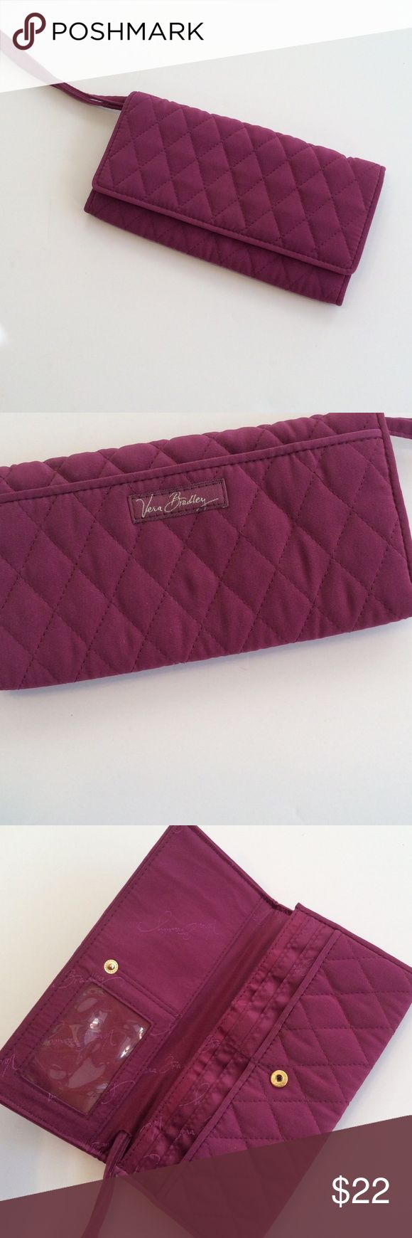 Selling this Vera Bradley quilted purple microfiber wristlet in my Poshmark closet! My username is: sunandpearl. #shopmycloset #poshmark #fashion #shopping #style #forsale #Vera Bradley #Handbags