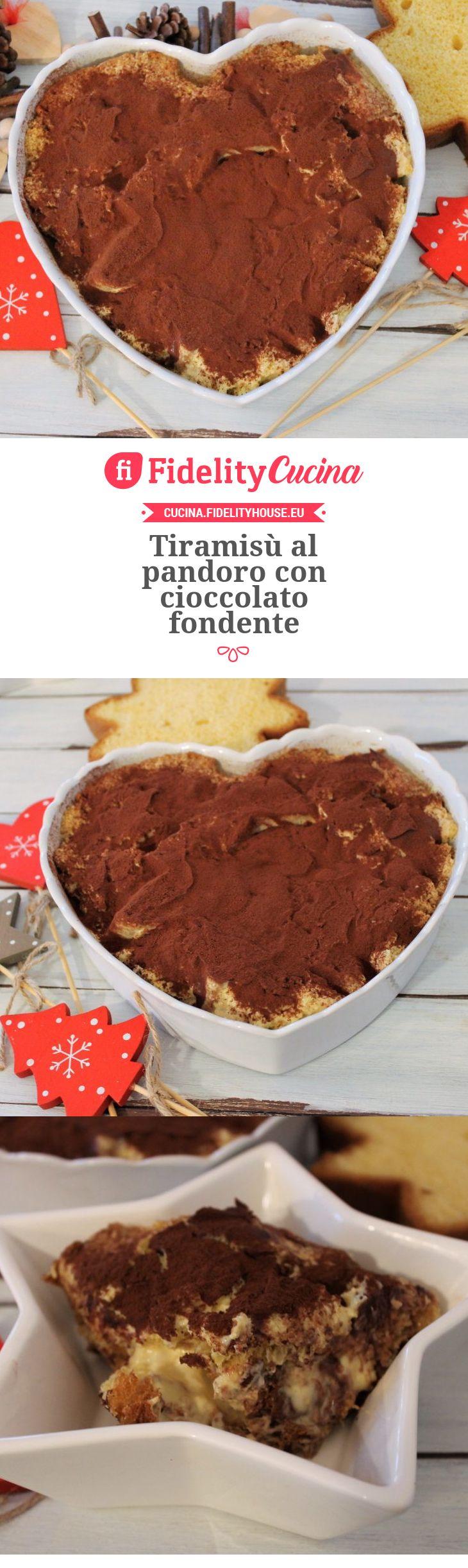 Tiramisù al pandoro con cioccolato fondente