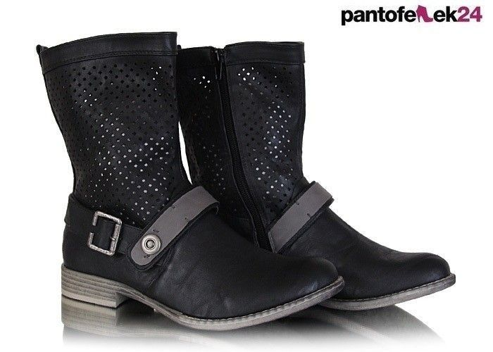 Botki w kolorze czarnym / Black boots / 36,90 PLN #black #winter #autumn #fashion #boots