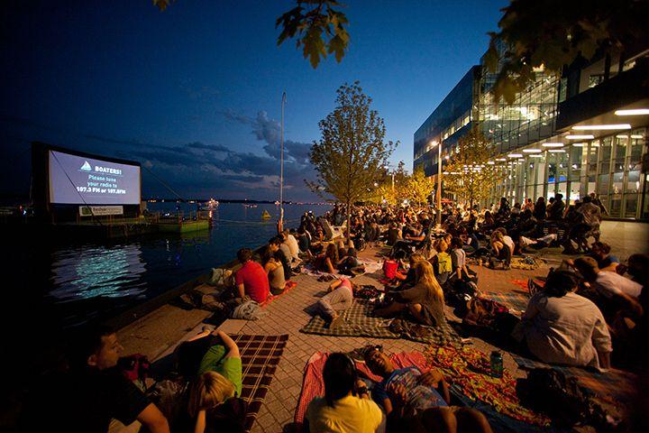 Cinema ao ar livre no verão 2015 de Toronto
