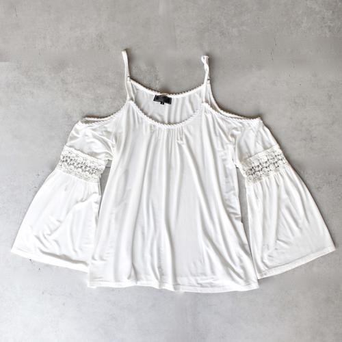 vintage acid wash cold shoulder boho shirt (more colors) - shophearts - 7