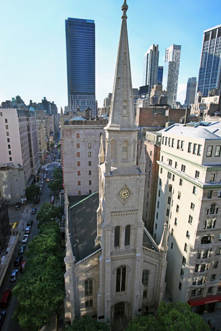 View Of The Church From Midtown Loft Terrace Event E In Nyc