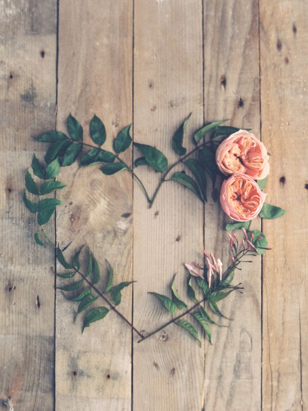 blooms | floral heart | via: romance weddings