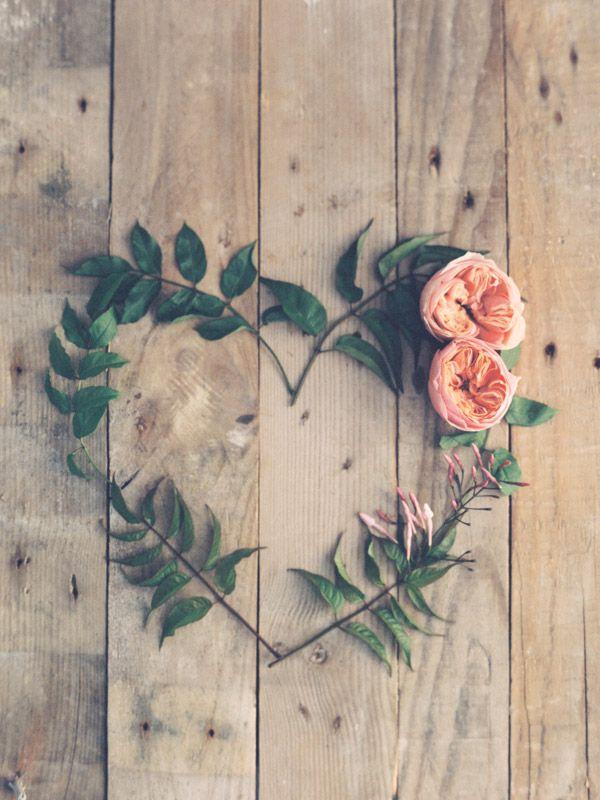 floral heart wreath.