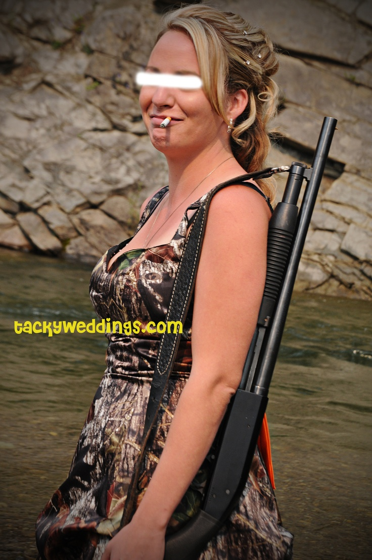 This Is Her Camo Wedding Dress Classy