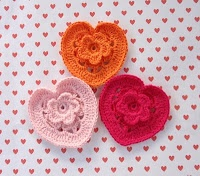 So Sweet!: Crochet Flowers, Flowers Patterns, Link, Crochet Heart, Crafty Saint, Beautiful Heart, Crochet Patterns, Tutorials Crochet, Flowers Tutorials