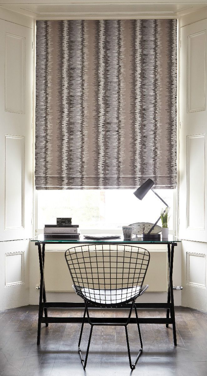 136 best roman blinds and curtains images on pinterest add warmth to a crisp white room with abstract patterns solutioingenieria Images