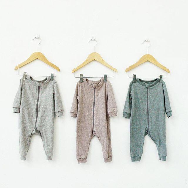 Get your zippy sleeper on. Restocked now in 5 colours. #organicsleepwear