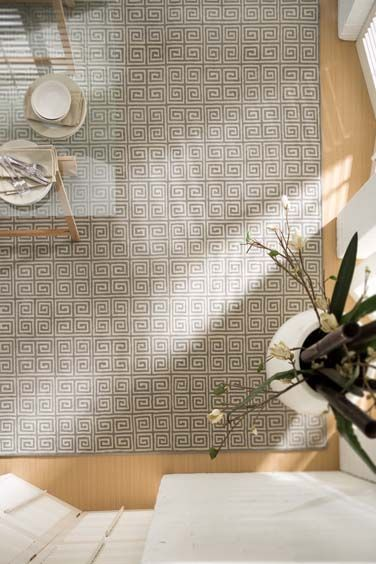 Cromwell - Geometric and classic, the complex pattern of the Cromwell creates a timeless rug that is strong and enduring but not too forceful. It provides a secure anchor but doesn't over-power while its hand-knotted wool weave is a testament to the craft.
