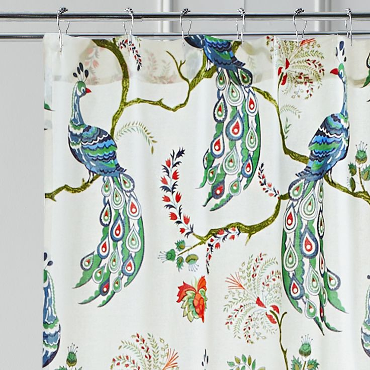 Peacock Printed Shower Curtain