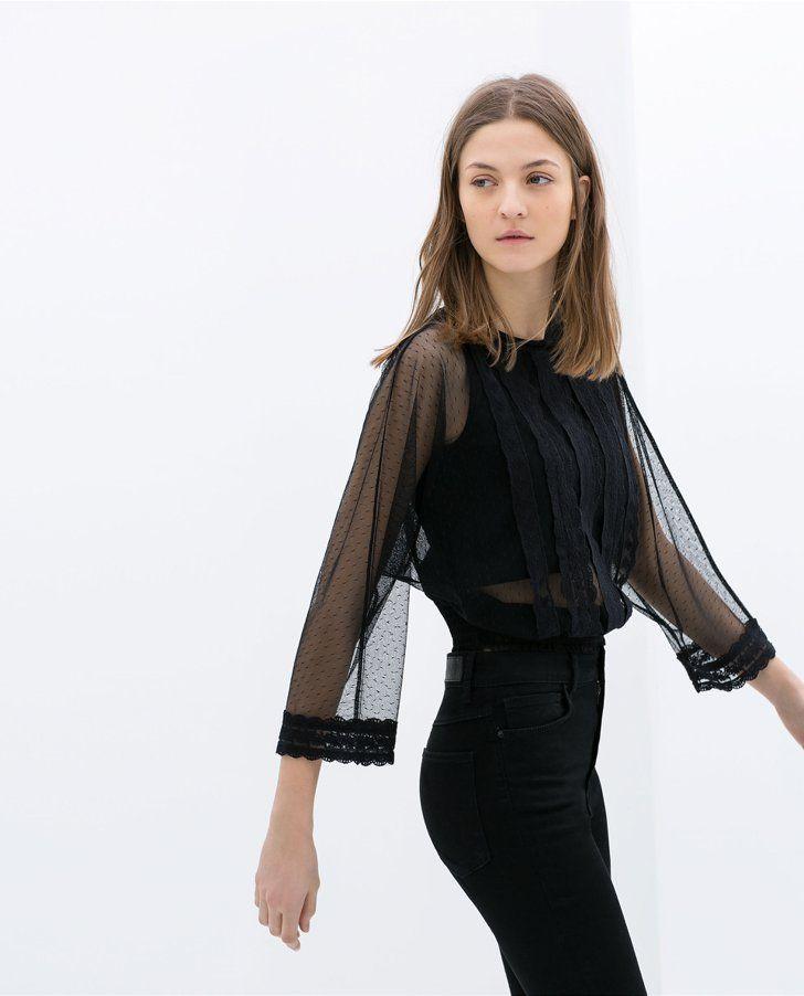 Pin for Later: 11 pièces Zara à ne surtout pas louper !  Zara Embroidered Lingerie Top ($70)