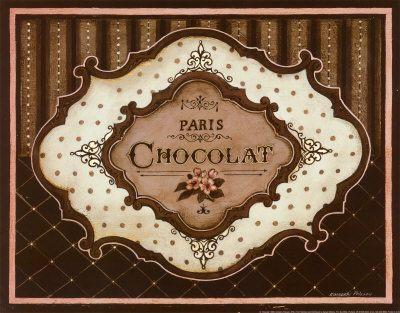 Chocolat... ein kleiner Biss genügt! Kunstdruck