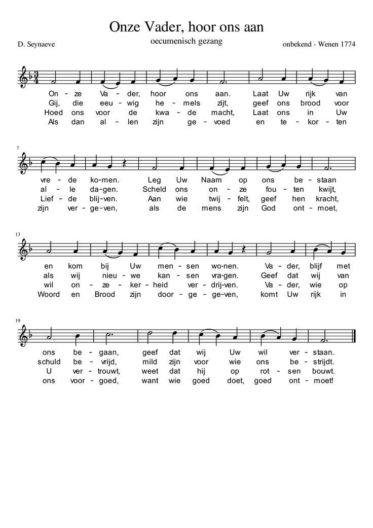 lied voor het jaar van het Onzevader