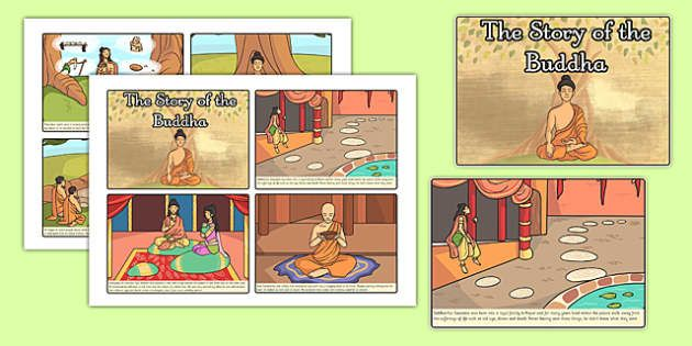These lovely A4 story sequencing cards are great for increasing and assessing familiarity with the main events in the story of 'The Buddha'. The set includes 6 cards in total, with a different illustrated scene on each one. You could also try using them to start discussions about the different key points and story structure.