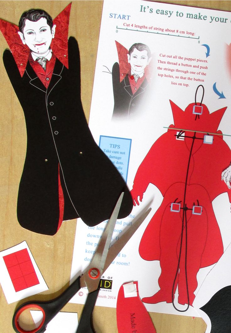 It's very easy to assemble this puppet.  Cutting out takes around 30 minutes, and assembly takes around 10 minutes. No knotting and no need to use a needle!  www.sheilasmithpuppets.co.uk     £4.50