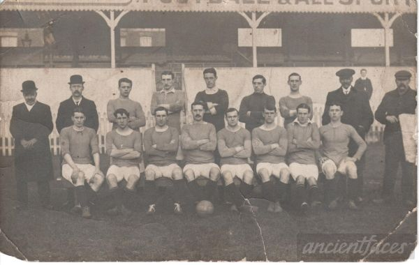 The 1909 / 1910 Gainsborough Trinity Football (soccer) Club. http://www.ancientfaces.com/photo/ernest-augustus-mettam/1295002