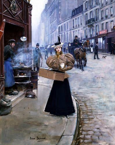 1890........LE MARCHAND DE MARRONS..................PARTAGE DE LE PEINTRE JEAN BERAUD.........SUR FACEBOOK.........