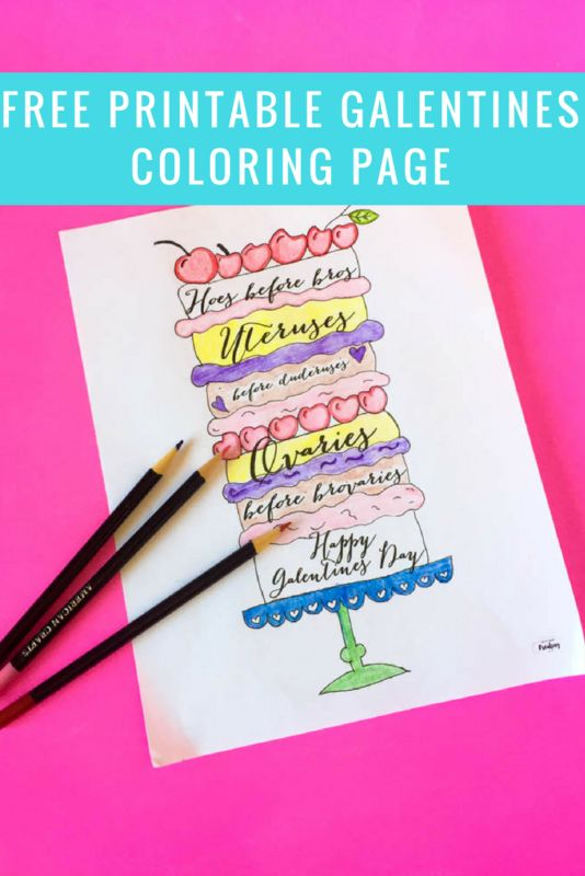 free printable galentines coloring page and diy layered crayons for your galentines day event parks