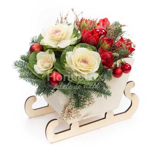 Sanie cu flori pentru Craciun | FlorideLux.ro https://www.floridelux.ro/sanie-cu-flori-pentru-craciun.html