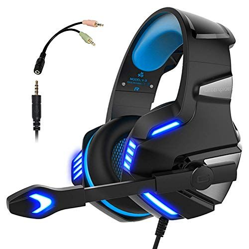 Micolindun Gaming Headset for Xbox One PC Over Ear Gaming Headphones with Noise Cancelling Mic LED Light Stereo Bass Surround Soft Memory Earmuffs for Smart Phone Laptops Tablet Xbox One Headset, Best Gaming Headset, Ps4 Or Xbox One, Gaming Headphones, Xbox One Controller, Beats Headphones, Xbox Xbox, Playstation Games, Xbox 360