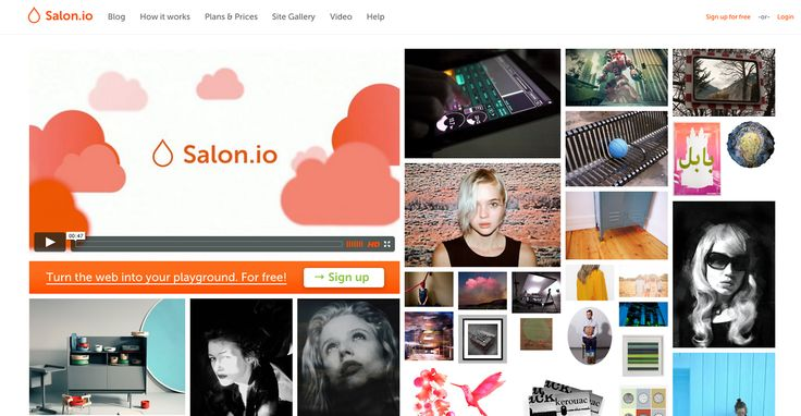 CSS Gallery | cssCow.com - Salon.io is a novel, template-free publishing tool...