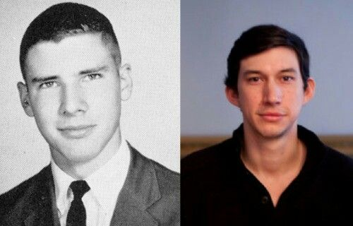 Harrison Ford and Adam Driver, like father like son