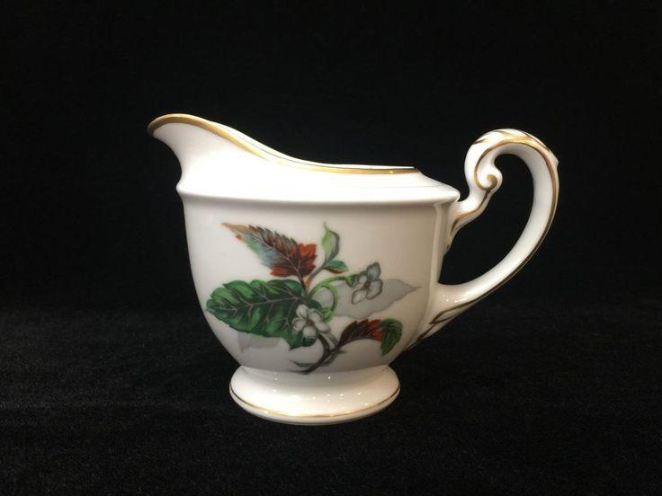 Vintage Imperial Craftsman Japan Porcelain China Begonia Flower Creamer #ImperialCraftsman