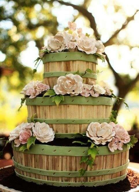 Matrimonio country chic - Idee per la torta nuziale