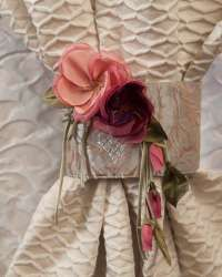 Decorative flowers for curtains and draperies.