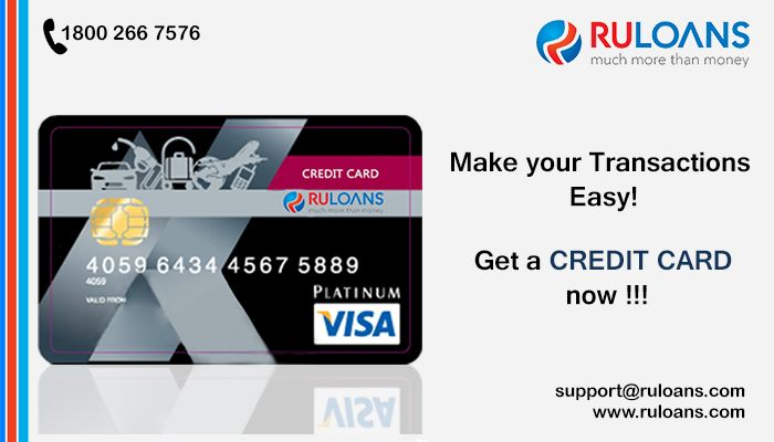 Need a Credit Card? Your search ends here. With Ruloans Compare online & get best & Lowest Interest Rates on Credit Card. For more details log on to https://www.ruloans.com/credit-card