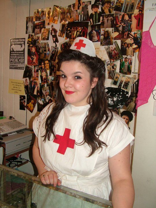 Darrelle on VE day #nurse #1940s #40s #VEday #ww2 #vintage #vintageguru