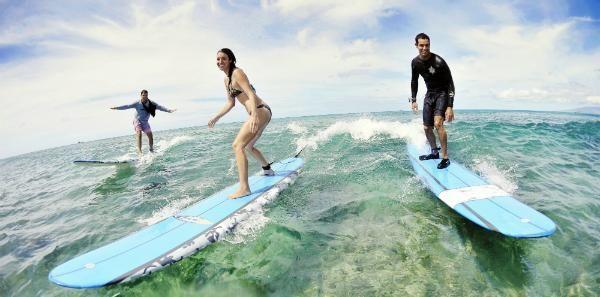 Hawaii Surf Lessons   Oahu February 2014!