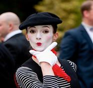 Victorian themed mime artist. Our Victorian entertainment can be hired in London and the UK.